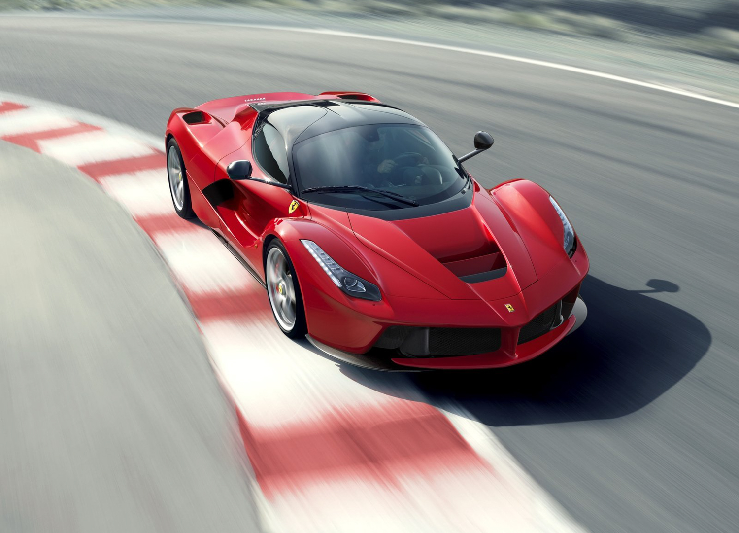 2014 Ferrari LaFerrari 3/4 high on track