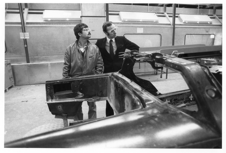courtesy Don Sherman inspecting dmc plant