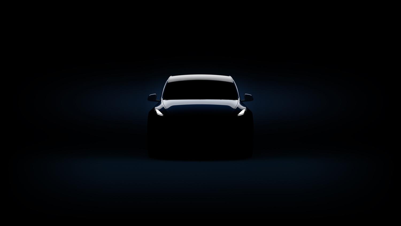 Tesla Model Y dark front