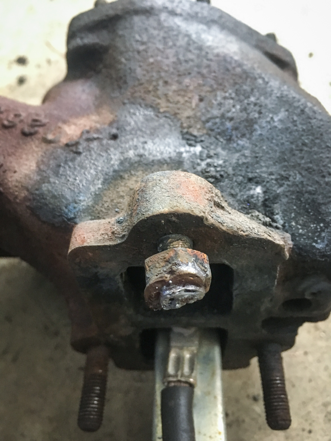 Nut welding attempt #1.