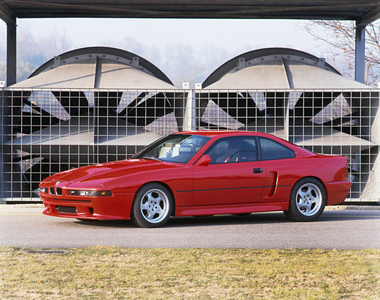 Red BMW E31 M8 prototype front 3/4