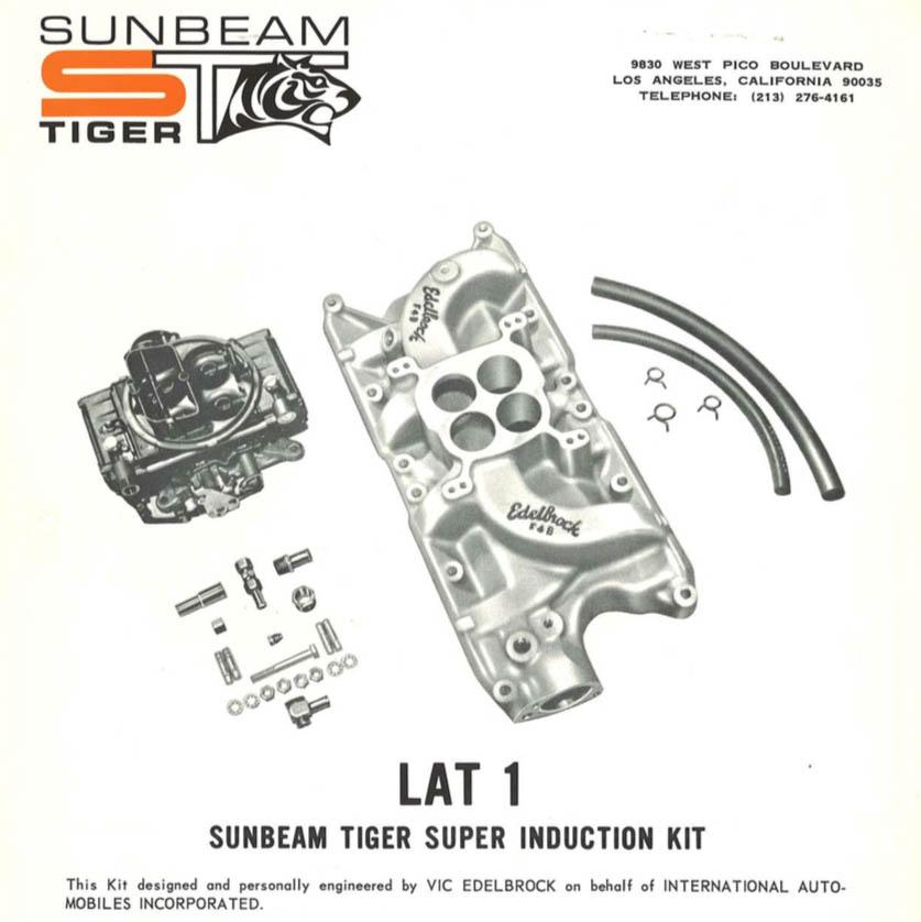 hot rod parts sunbeam tiger ad