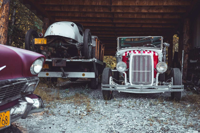 Barn Find Hunter Alaska hot rods under roof