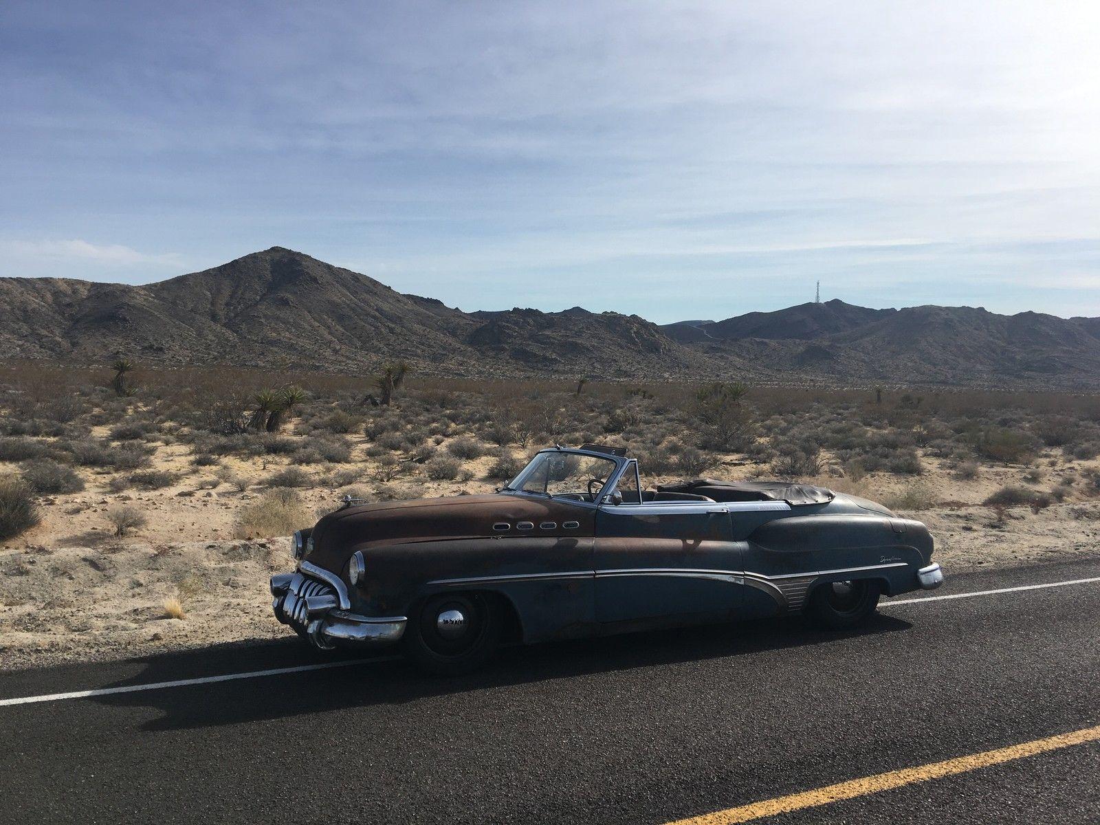 1950 Buick Roadmaster ICON Derelict 3/4 desert mountains