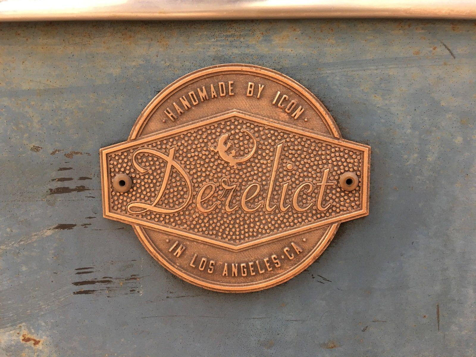 1950 Buick Roadmaster ICON Derelict badge detail