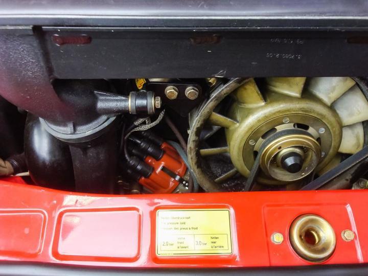 1984 Porsche 911 Turbo Slantnose engine