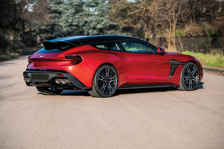 2019 Aston Martin Vanquish Zagato Shooting Brake rear 3/4