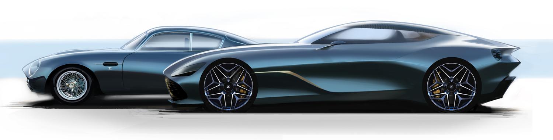 Aston Martin DBS GT Zagato and DB4 GT Zagato Continuation side profile