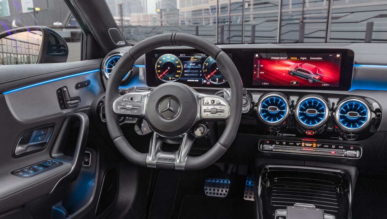 Mercedes-AMG A 35 driver seat dash