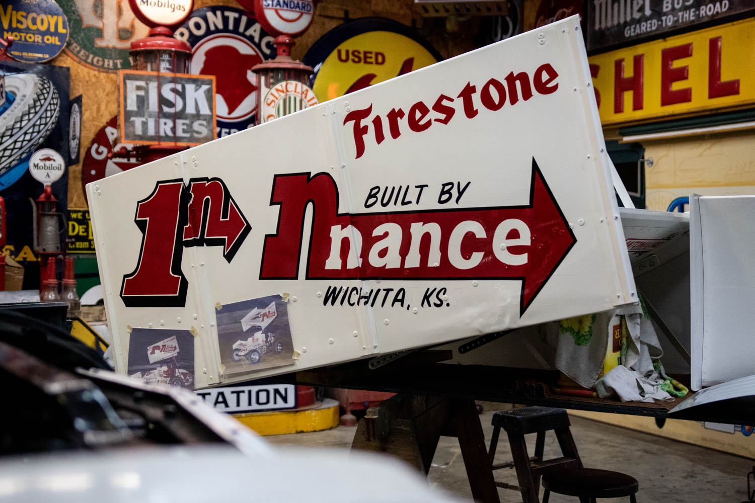 classic Firestone sign