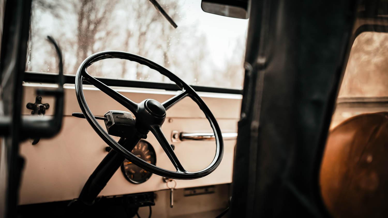 1967 Jeep CJ-5 steering wheel