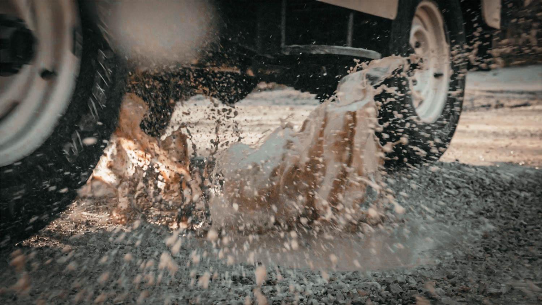 1967 Jeep CJ-5 mud splash