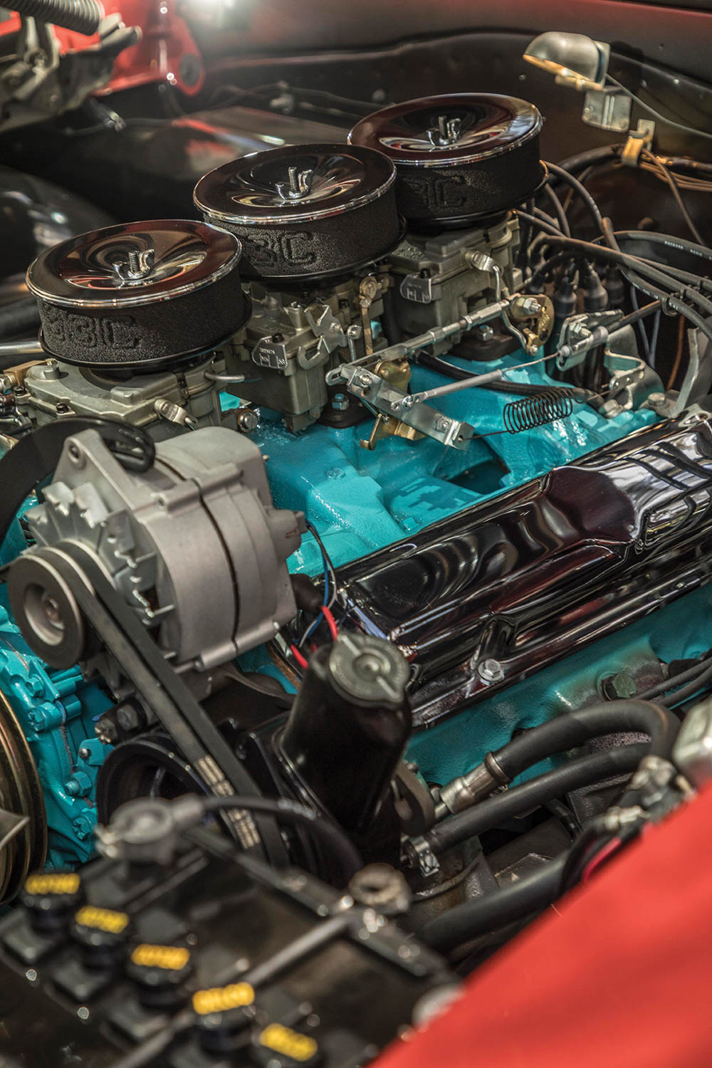 The GTO engine has a date-coded block and what Tenney Fairchild believes are the original heads. To fool C/D editors in 1964, Jim Wangers updated the casting numbers, and there was no way to tell the engine from a standard GTO mill.