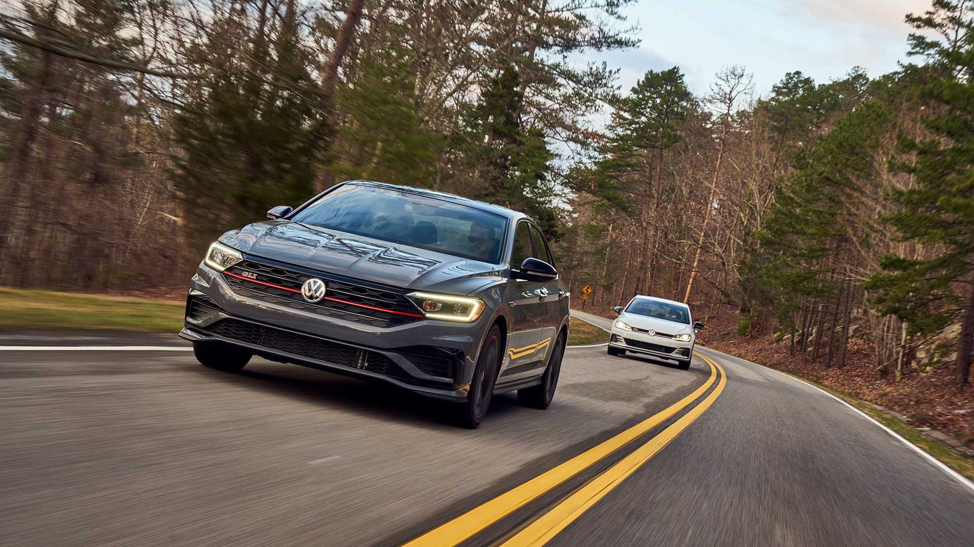 2019 Volkswagen Jetta GLI driving the tail of the dragon