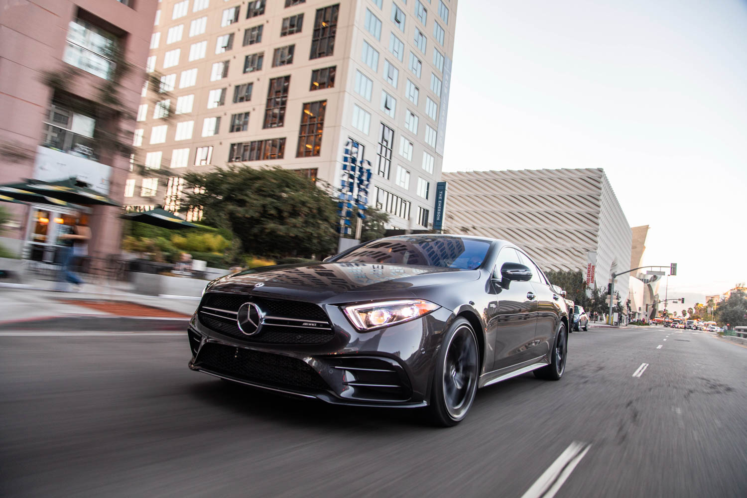2019 Mercedes-AMG CLS53 low front 3/4
