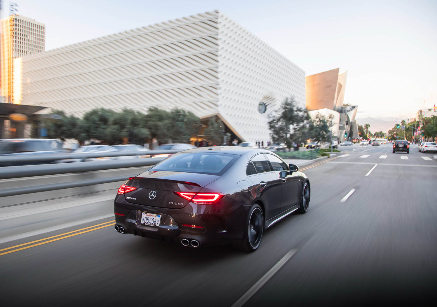2019 Mercedes-AMG CLS53 driving rear 3/4