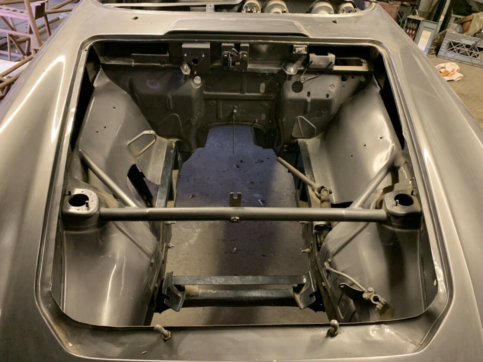 project 1966 Ghia 1500 gt engine bay