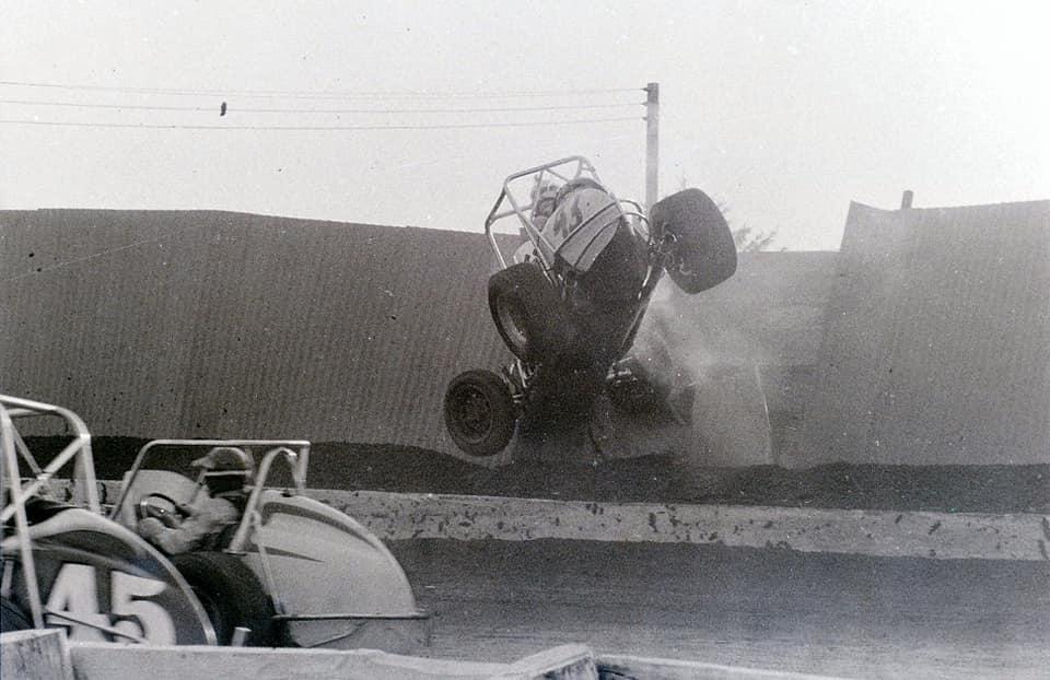Rich Bunning car flipping through the air