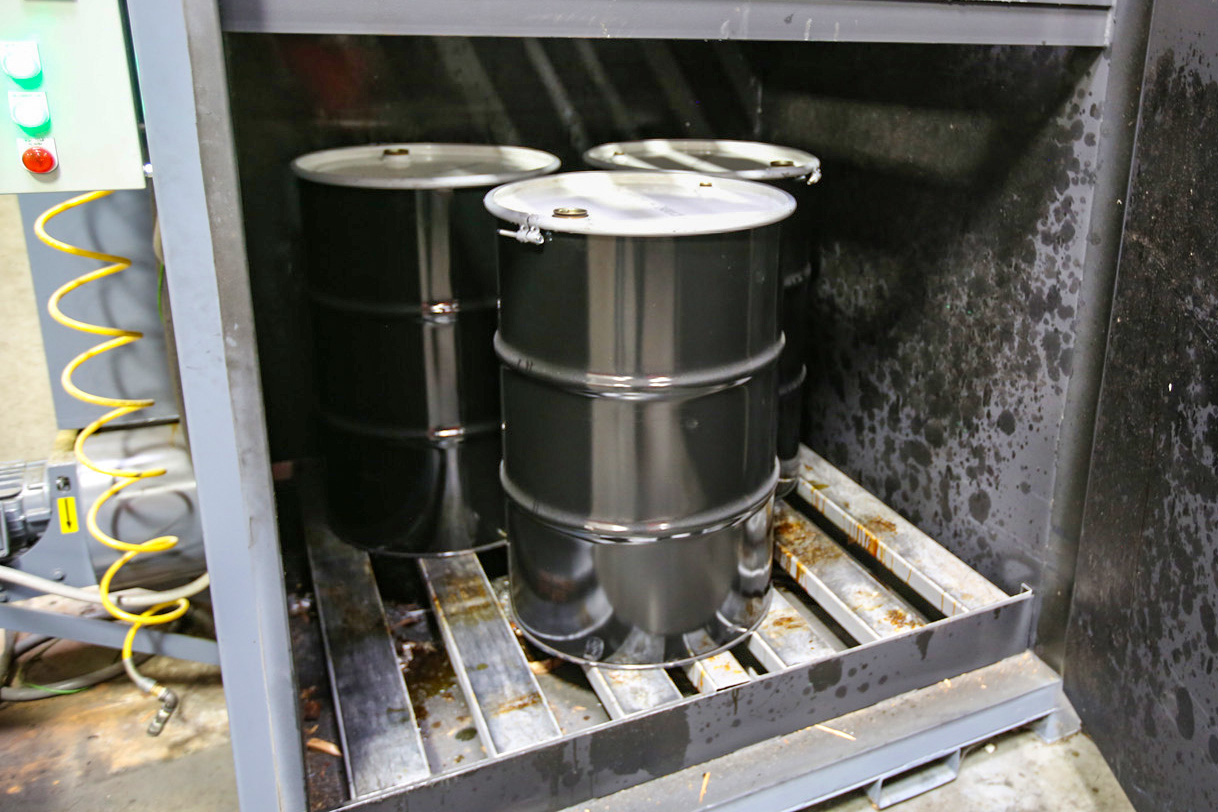 Red Line synthetic oil barrels