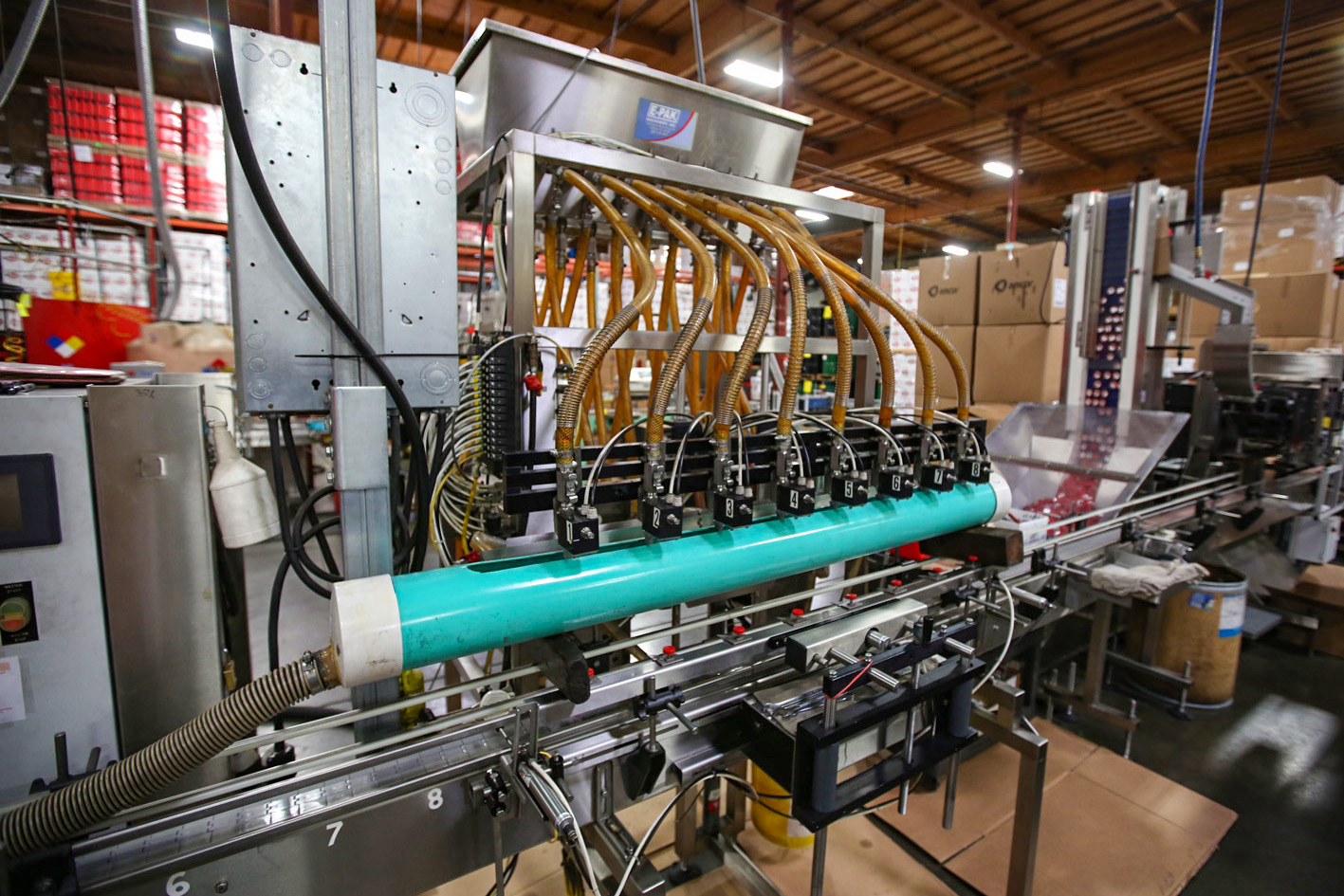 Red Line Synthetic racing oil bottling line