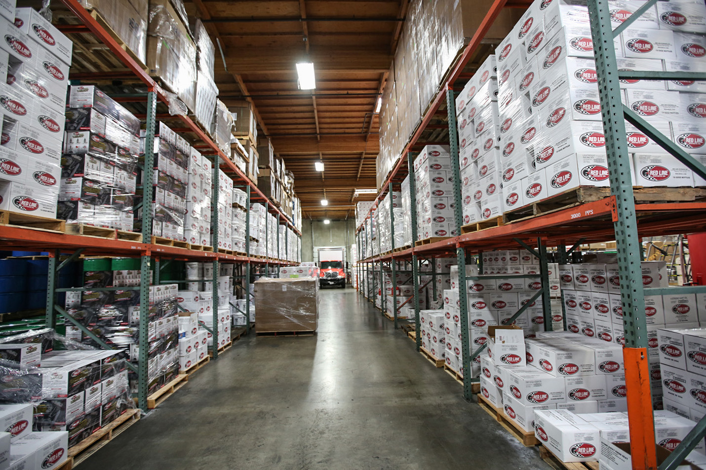 Red Line Synthetic Oil warehouse