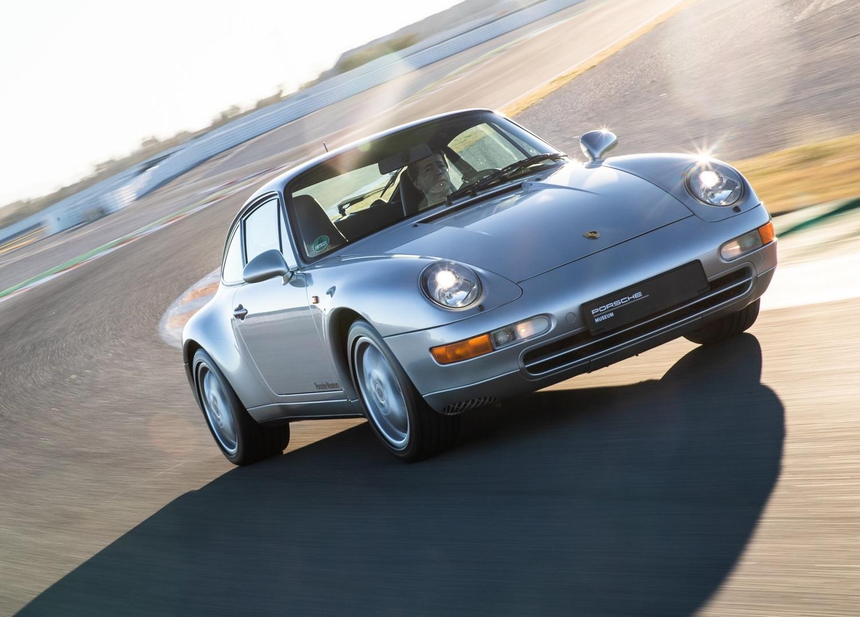 1997 Porsche 911 Carrera 3/4 front on track