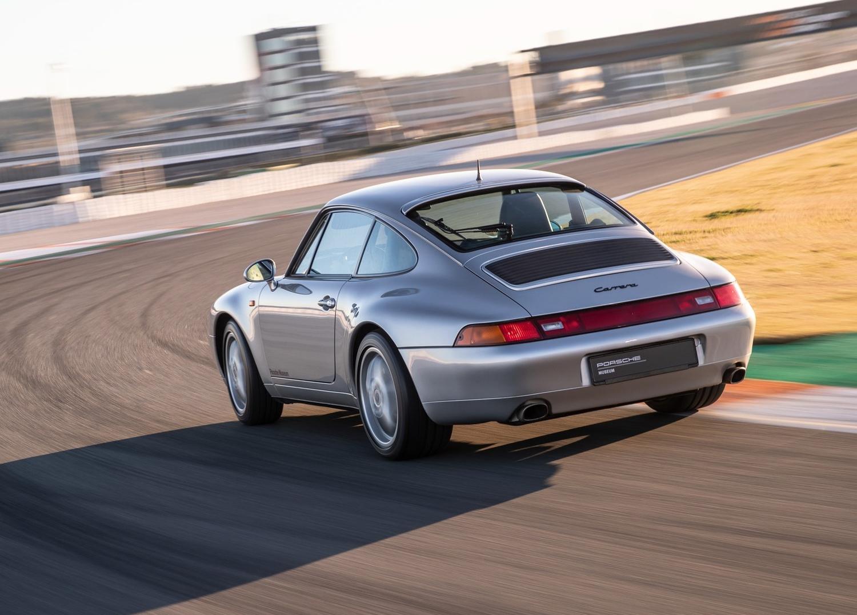 1997 Porsche 911 Carrera 3/4 rear on track