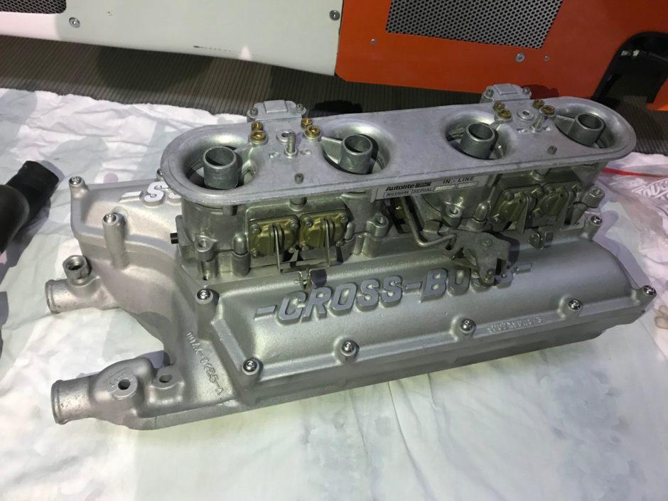 Ford Cross Boss Intake and Autolite 875 Carburetor