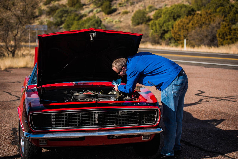 1967 camaro hood up repairs