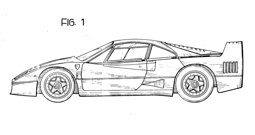 Ferrari F40 side