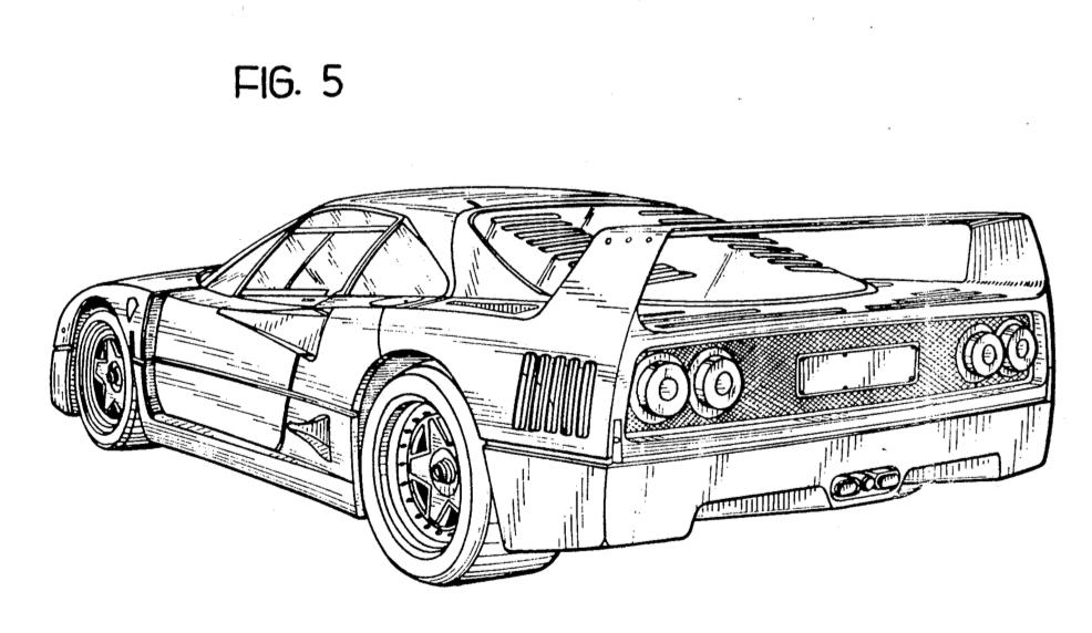 Ferrari F40 3/4 rear