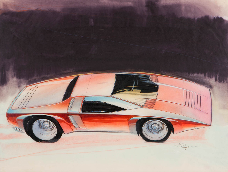 1972 Corvette/Camaro Studio sketch