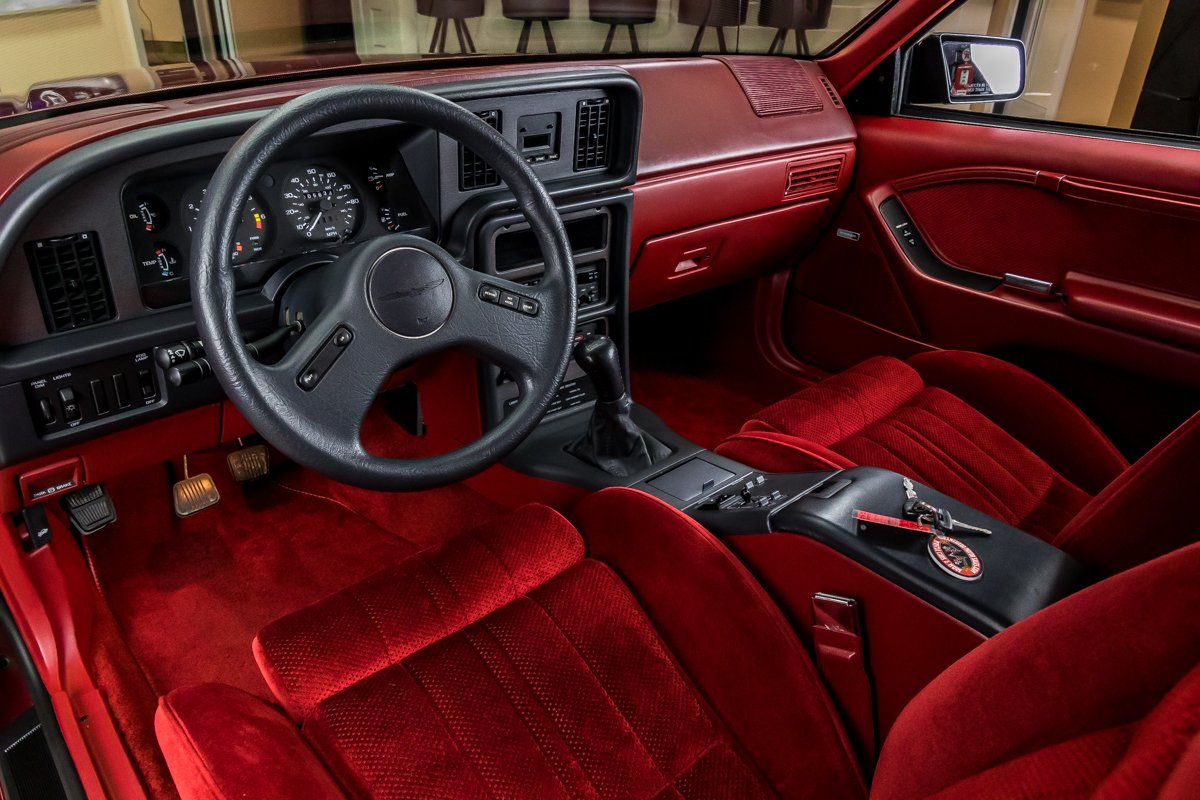 1987 Ford Thunderbird Turbo Coupe interior driver