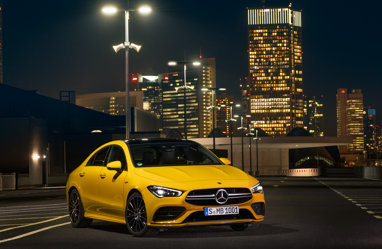 2020 Mercedes-AMG CLA 35 3/4 front parked