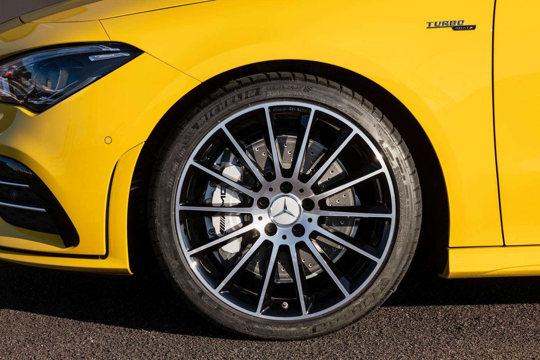 2020 Mercedes-AMG CLA 35 front wheel brakes