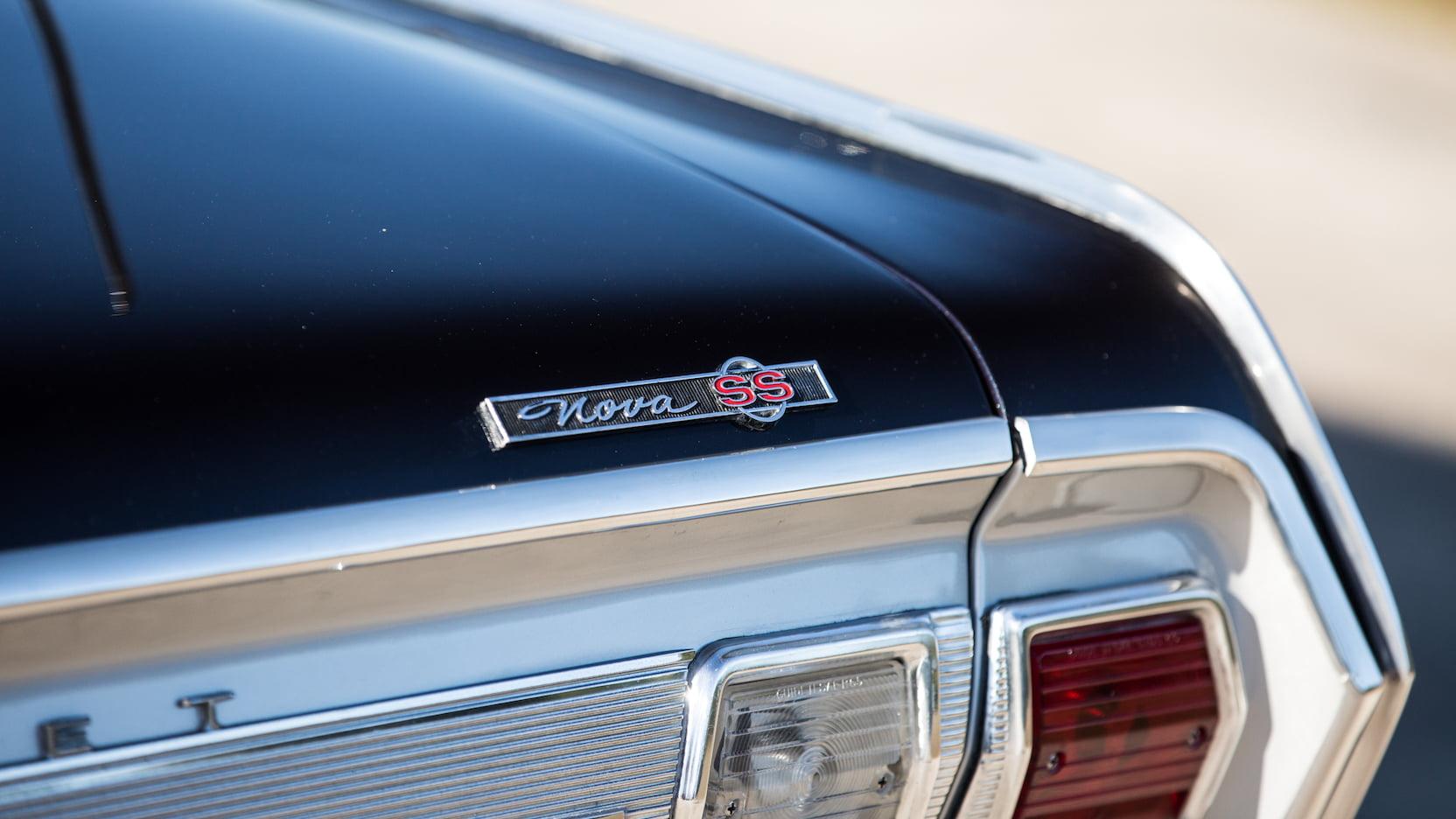 1965 Chevrolet Nova SS badge trunk