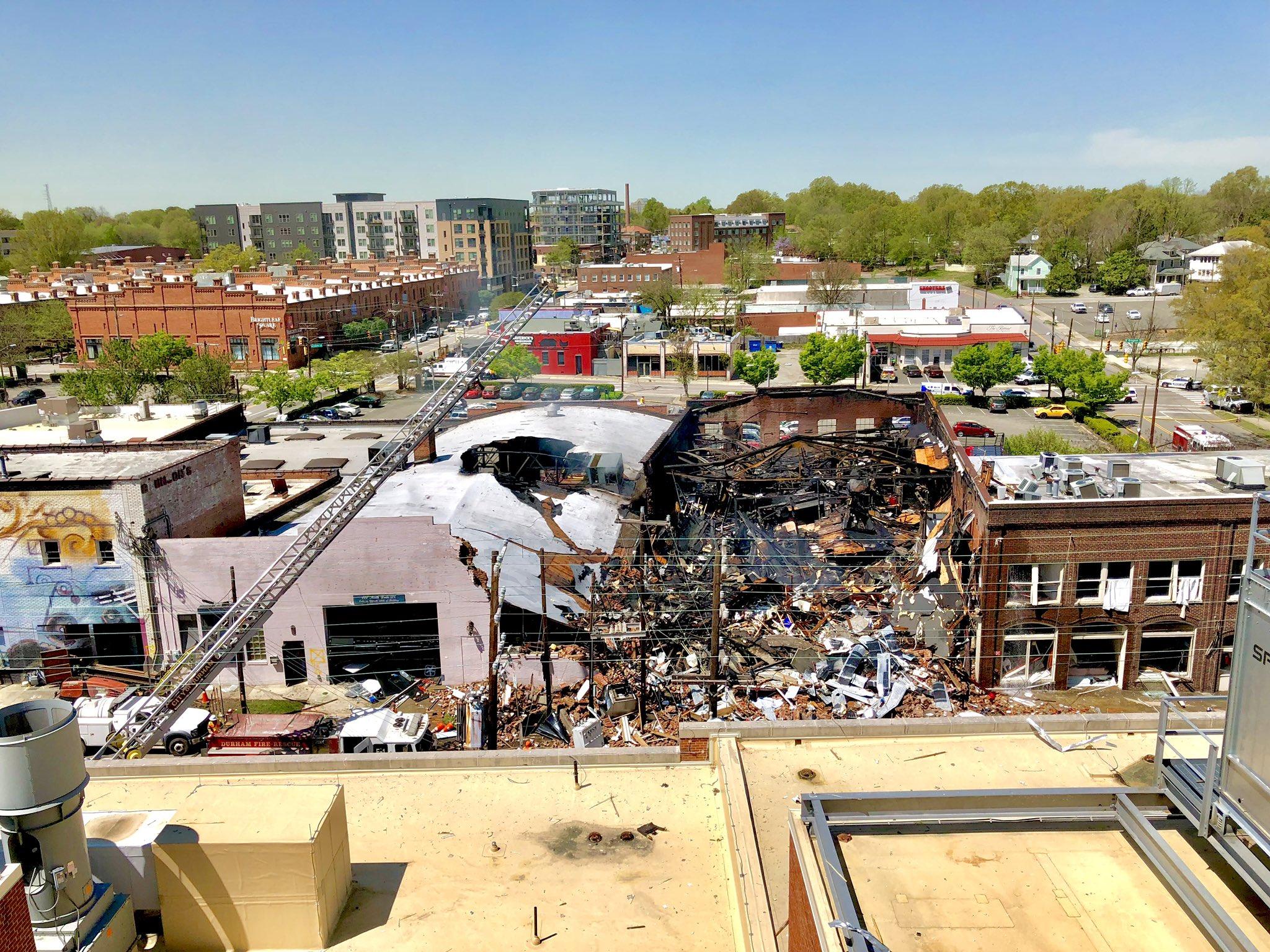 Gas explosion  in North Carolina
