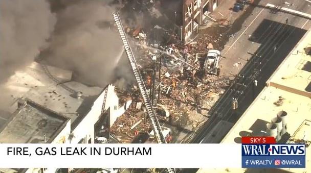 gas explosion in Durham North Carolina
