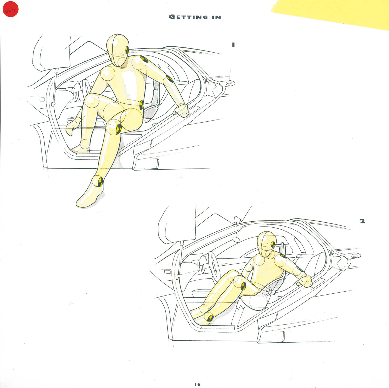 sketch of how to get into a McLaren F1