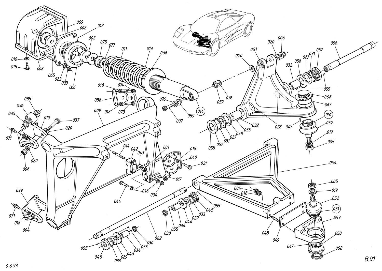 McLaren F1 driving components