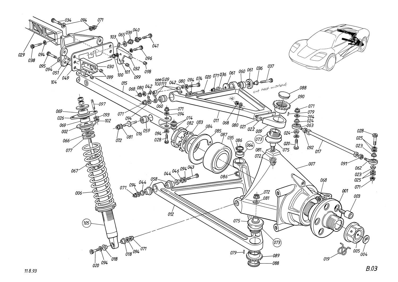 McLaren F1 suspension