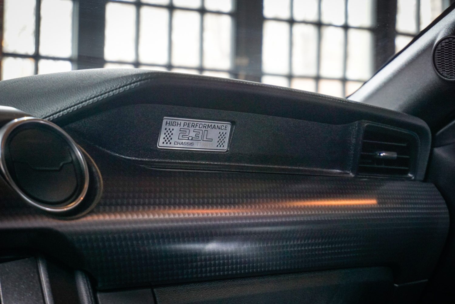 2020 Ford Mustang Ecoboost High Performance Package interior badge