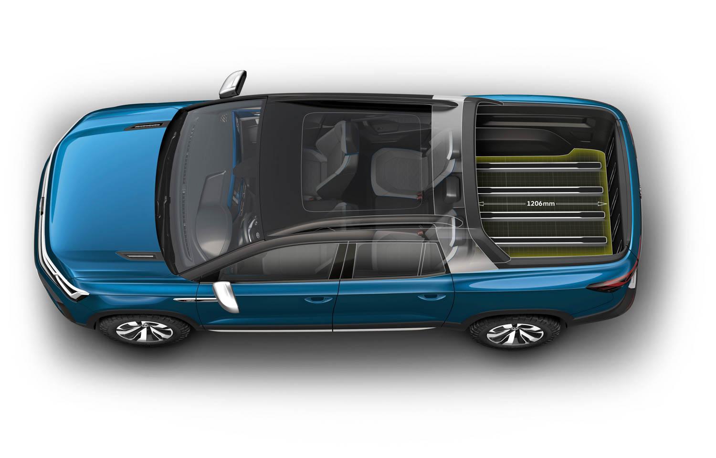 Volkswagen Tarok concept pickup bed