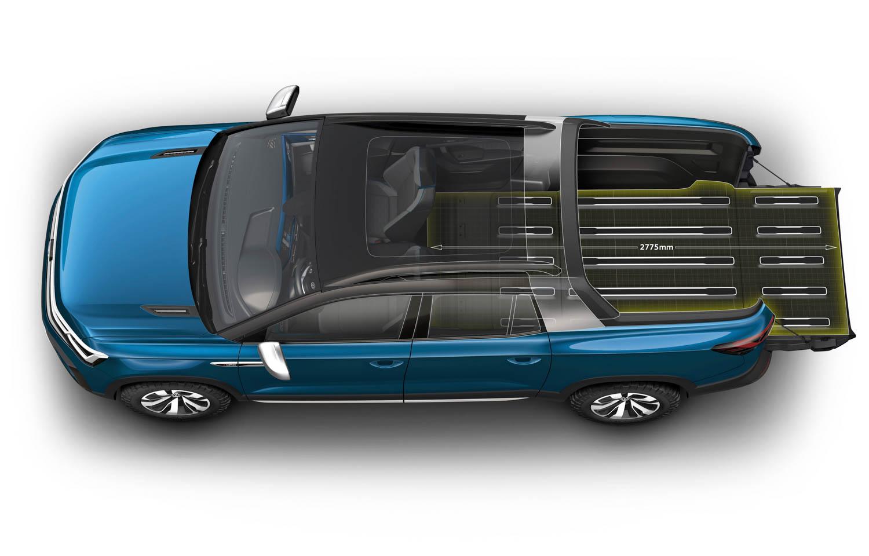 Volkswagen Tarok concept pickup bed extension