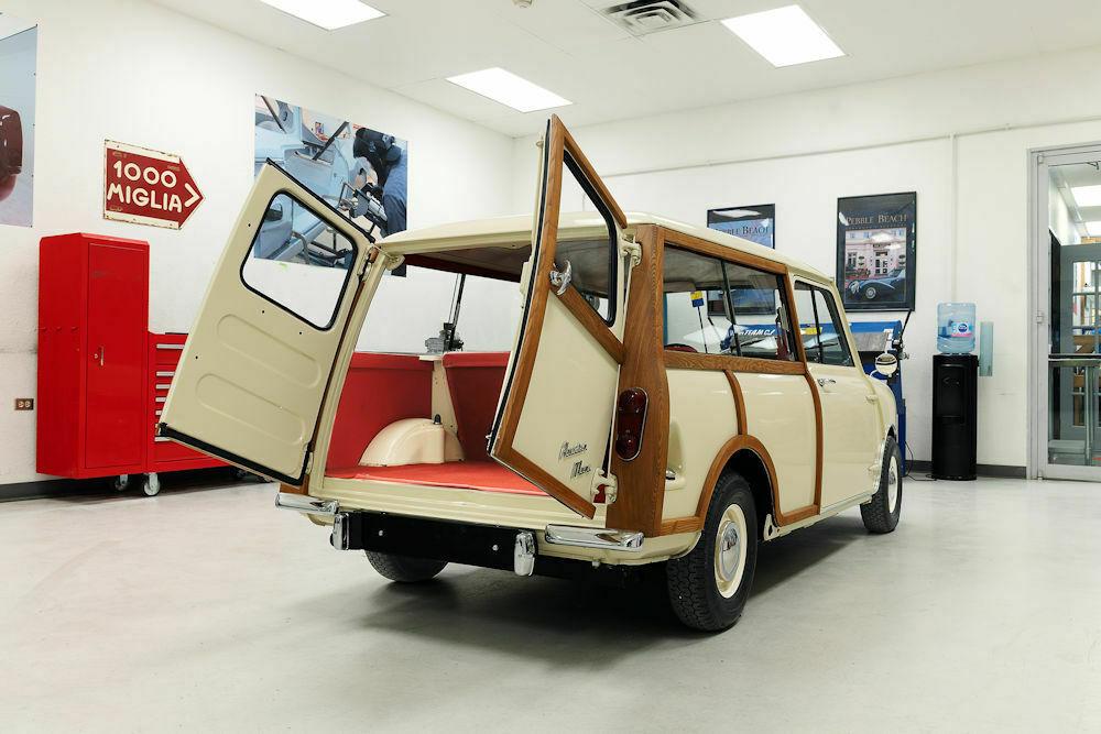 1964 Austin Mini Countryman rear hatch open
