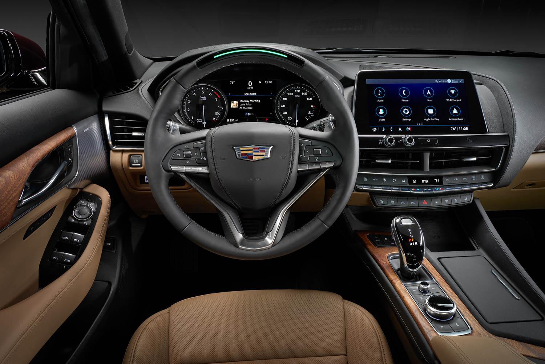 Cadillac CT5 steering wheel