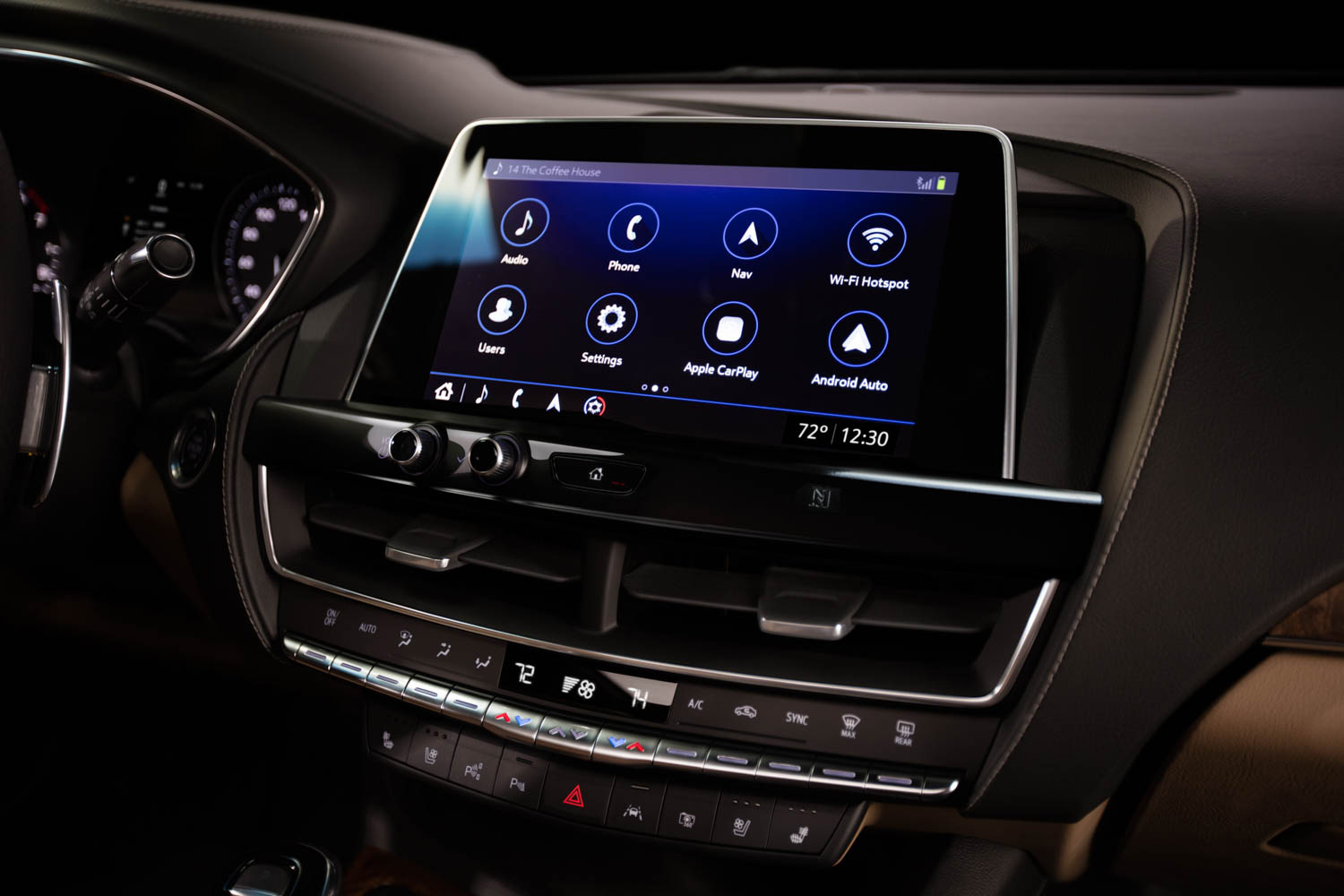 Cadillac CT5 entertainment console