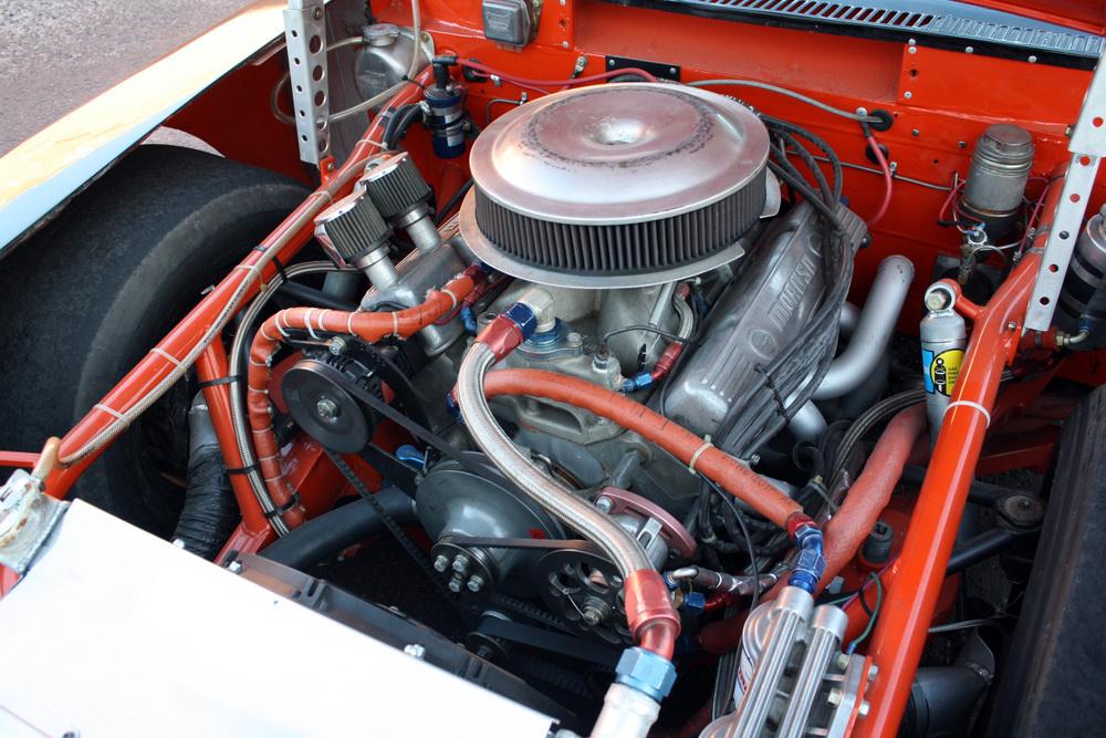 "1977 Chevrolet Nova ""Dale Earnhardt NASCAR"" engine"