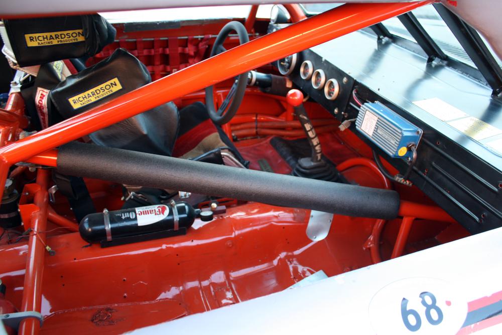 """1977 Chevrolet Nova """"Dale Earnhardt NASCAR"""" roll cage front"""