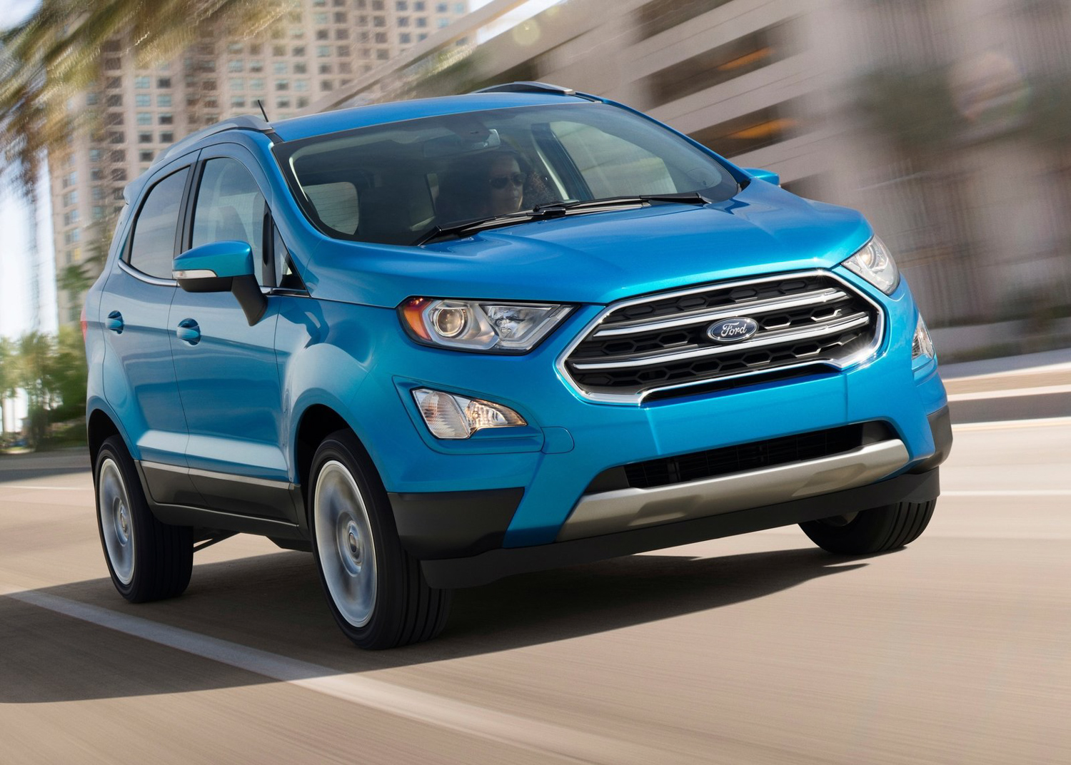 2018 Ford EcoSport 3/4 front driving